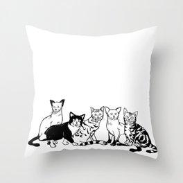 CAT AVENGER Throw Pillow