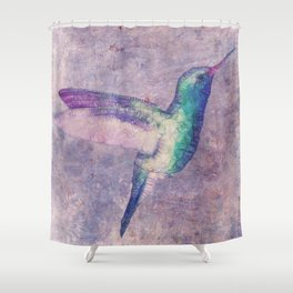abstract hummingbird Shower Curtain