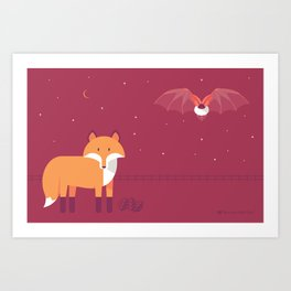 Mammal Next Door introducing Oddity & Cosmos Art Print