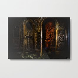 The Haunted Confession, A Painting by Jeanpaul Ferro Metal Print