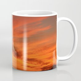 Red and Orange October Sunset Coffee Mug