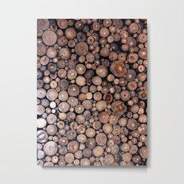 Stacked Wood Metal Print
