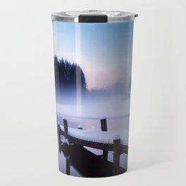 Winter Blues At Loch Ard Travel Mug
