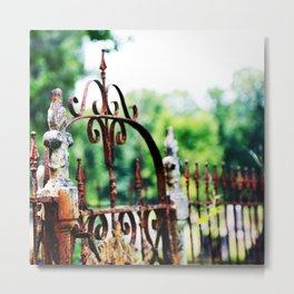 Cemetary Gate Metal Print
