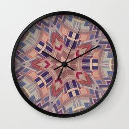 Paint chip kaleidoscope Wall Clock