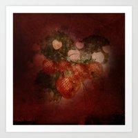 Vintage Strawberries Art Print