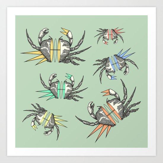 grab my crabs Art Print