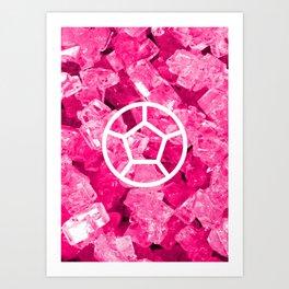 Rose Quartz Candy Gem Art Print