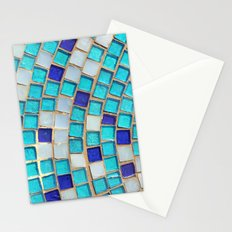 Blue Tiles - an abstract photograph. Stationery Cards