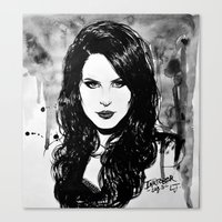 lana Canvas Prints featuring Lana by Louise des Jam