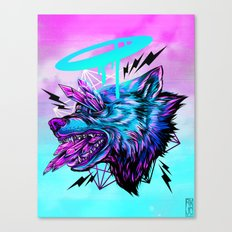 Crystal Wolf Canvas Print