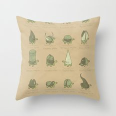 A Study of Turtles Throw Pillow