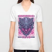gore V-neck T-shirts featuring Hunting Club: Gore Magala by MeleeNinja