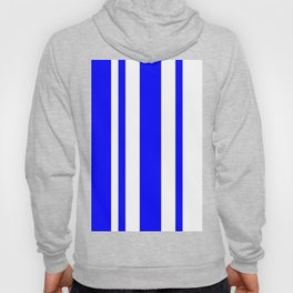 Mixed Vertical Stripes - White and Blue Hoody