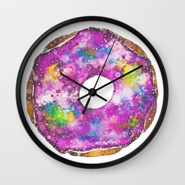 Psychedelic Phrosted Doughnut Baker's Dozen #1 Wall Clock