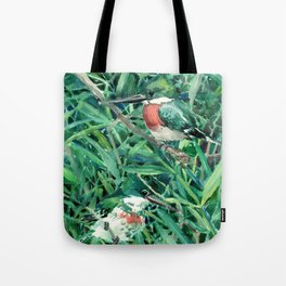 Green Kingfisher in Nature, green design Tote Bag