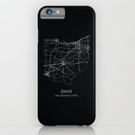 Ohio State Road Map iPhone Case