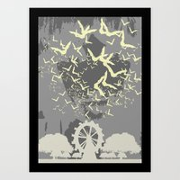 bats Art Prints featuring Bats by Italyprayer