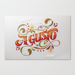 A Gusto: food styling typography  Canvas Print