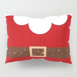 Santa Knitted Sweater (Red) Pillow Sham