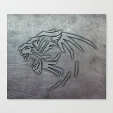 Bigcat Tribal on Metal Canvas Print