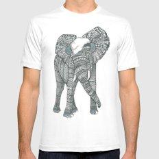 Humble elephant Mens Fitted Tee MEDIUM White