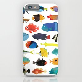 Tropical Fish chart iPhone Case