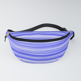 Girly Artsy Ocean Blue Abstract Stripes Fanny Pack