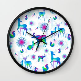 Christmas Creatures Wall Clock