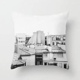Parisian Rooftops. Throw Pillow