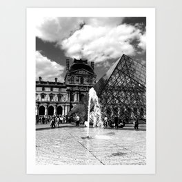 Louvre in High Drama Art Print