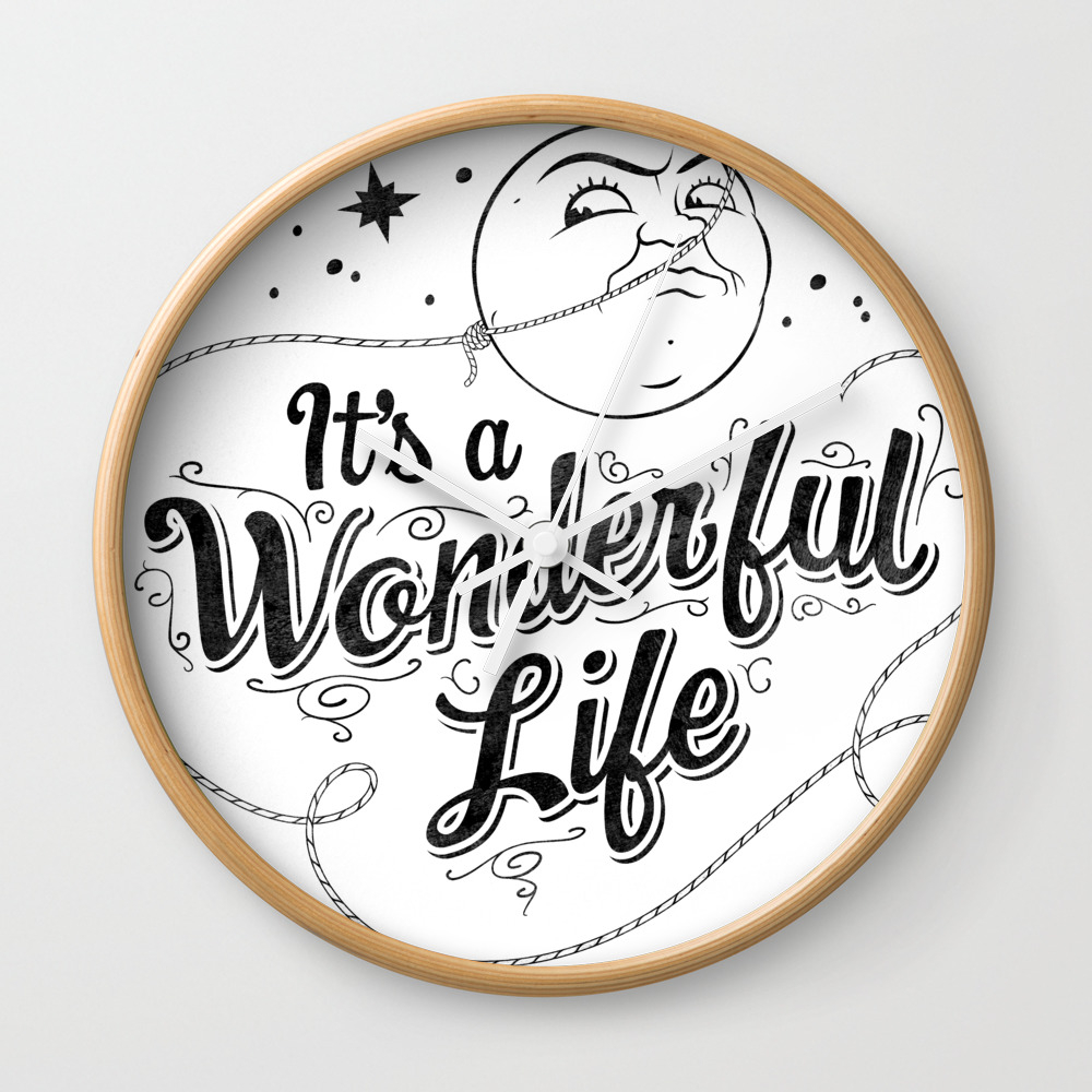 It's A Wonderful Life 2 Wall Clock by Graphicsbyhand CLK8679306