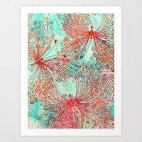 butterfly Art Prints featuring Butterfly Pattern by Klara Acel