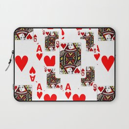 RED QUEEN OF HEARTS  & ACES PLAYING CARDS ARTWORK Laptop Sleeve
