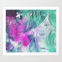 Florie the Dreamer Art Print