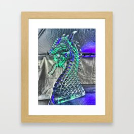 Ice Dragon Head at Icestravaganza, 2017 Framed Art Print