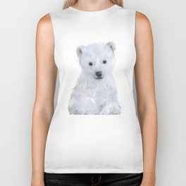 Little Polar Bear Biker Tank
