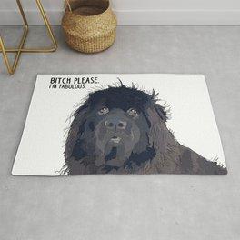 Bitch Please.  I'm Fabulous.  Newfoundland Dog. Rug