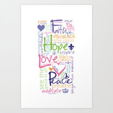 Words to Live By Art Print