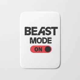 Beast mode ON. Bath Mat