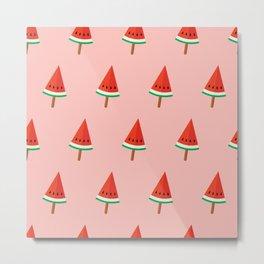 Watermelon popsicles Metal Print