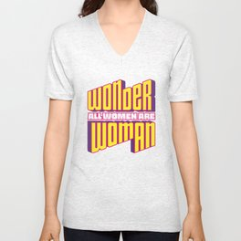 Wonderful Woman Unisex V-Neck