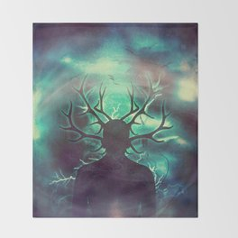 Deer Dreams II Throw Blanket
