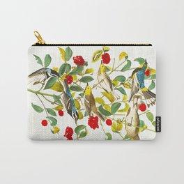 Vintage Scientific Bird & Botanical Illustration Carry-All Pouch