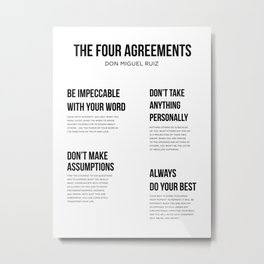 The Four Agreements 2 Metal Print
