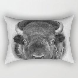 buffalo portrait Rectangular Pillow