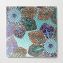 Aqua Green Brown and Blue Faux Glitter Flowers on #Society6 by betterhome