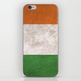 Ireland Flag (Vintage / Distressed) iPhone Skin