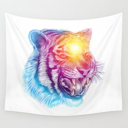 Animal III - Colorful Tiger Wall Tapestry