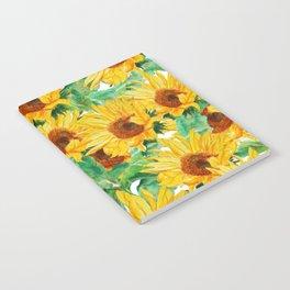 sunflower pattern Notebook